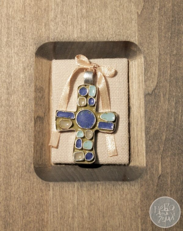 Хрестик натільний оливковий