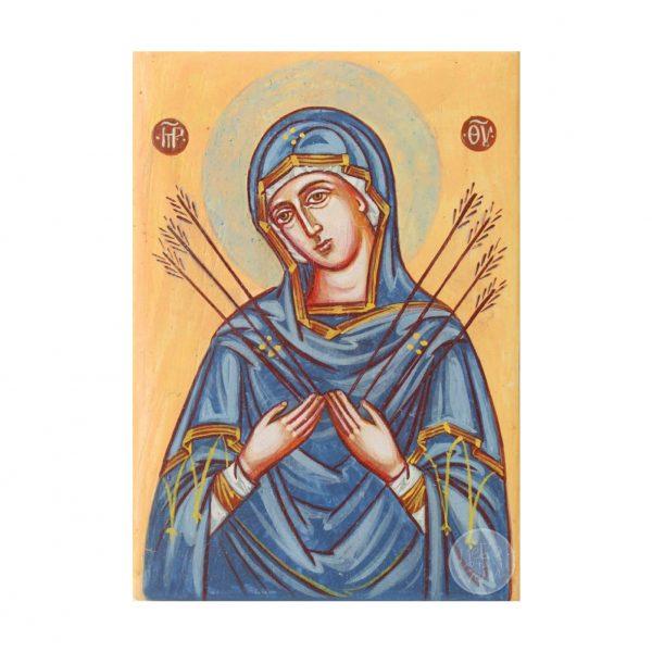 Дорожня ікона Божої Матері «Семистрільна»